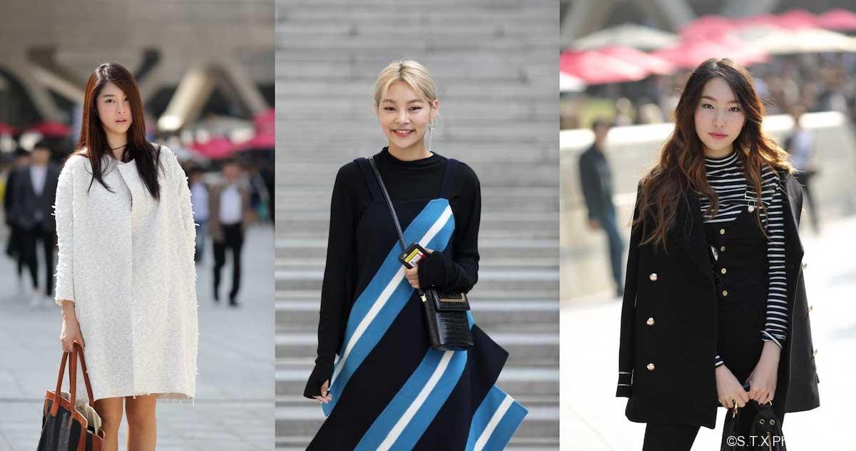 韩国潮人街拍、时尚街拍、飘在思密达、首尔故事、李珍伊、宋海娜