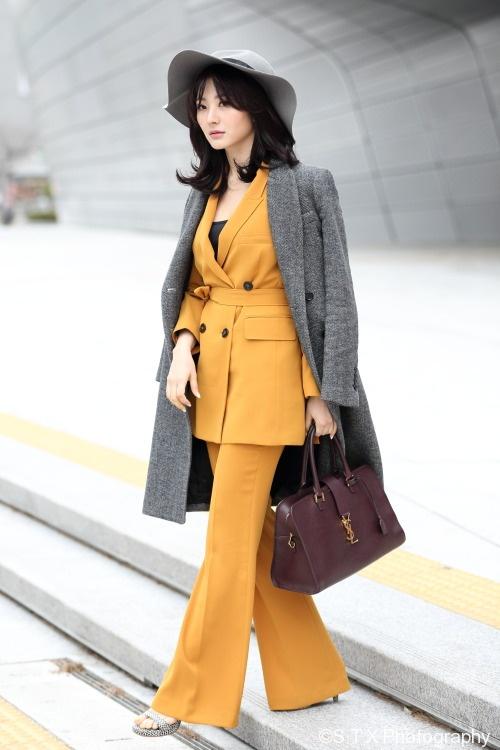 2018春季韩国时尚街拍