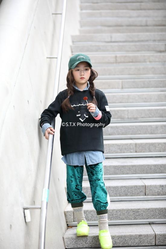 2018秋季韩国儿童时尚街拍