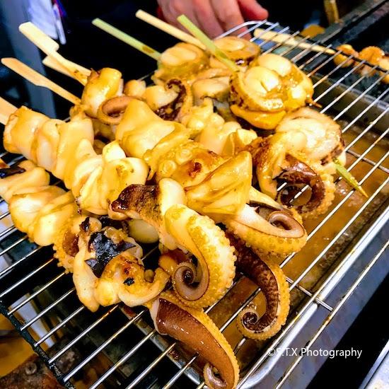 锦市场烤海鲜串