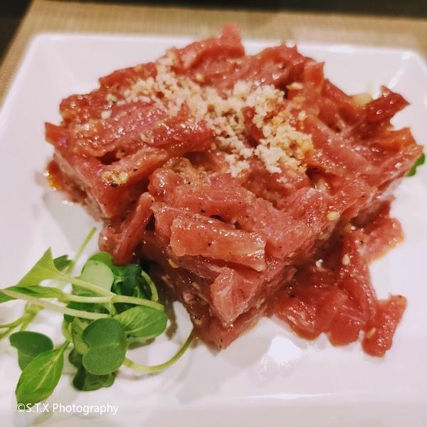 生拌牛肉、韩国美食