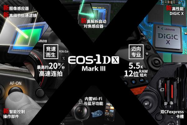佳能新旗舰EOS-1D X Mark Ⅲ