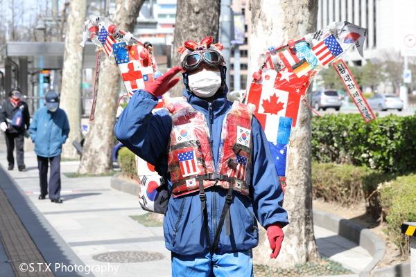 2020韩国街拍、新冠肺炎疫情