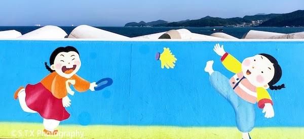梧桐岛防波堤壁画