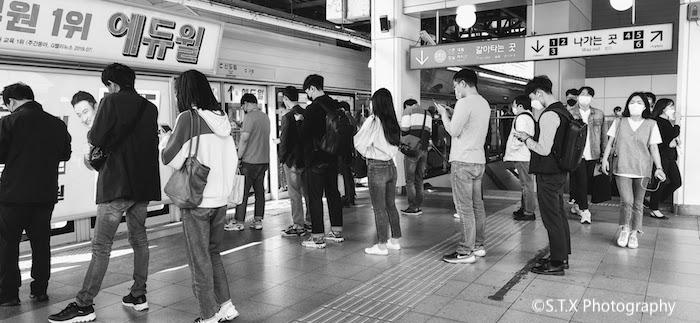 首尔地铁1号线新道林站、韩国新冠肺炎疫情