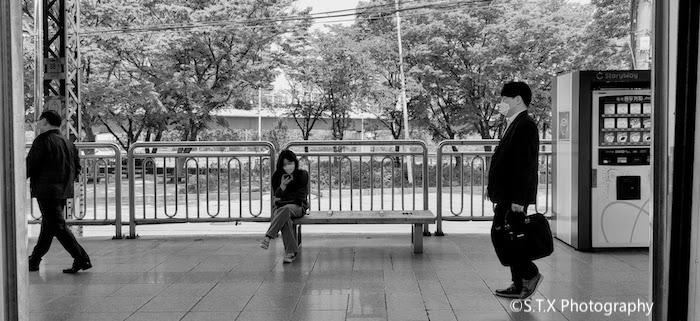 首尔地铁5号线新吉站、韩国新冠肺炎