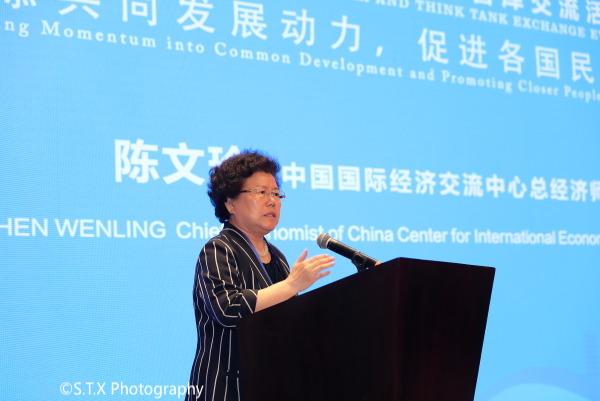 中国国际经济交流中心总经济师陈文玲