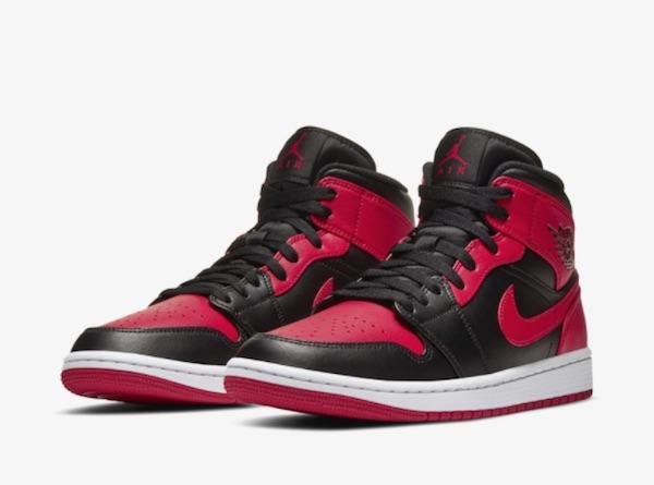 Air Jordan 1 Mid Black.&Red