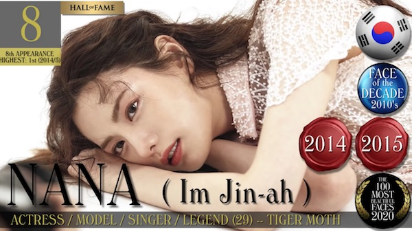 After School、Nana、2020年全球最美面孔100