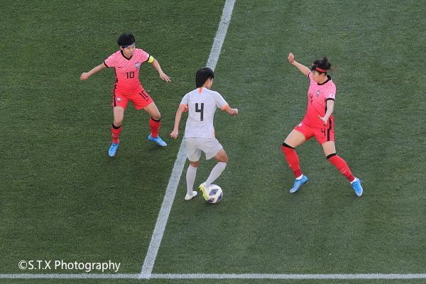 中韩女足奥预赛附加赛首回合