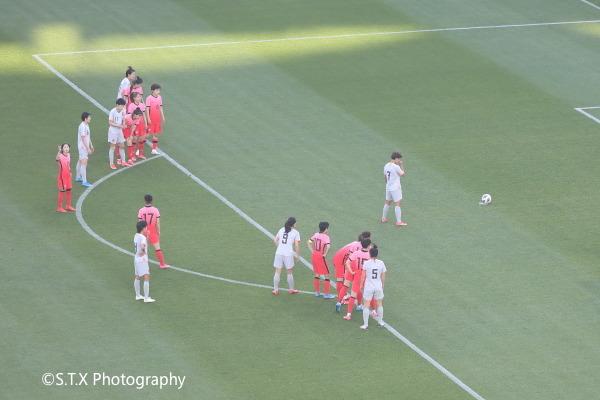 王霜、中韩女足奥预赛附加赛首回合