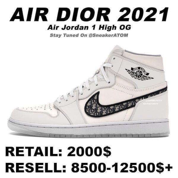 Dior x Air Jordan 1 High OG All White