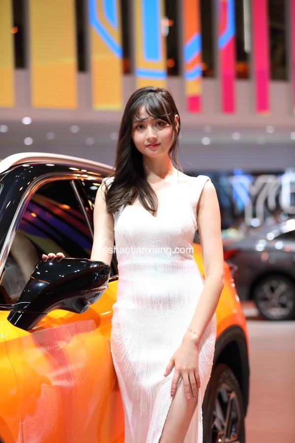 2021成都车展美艳车模